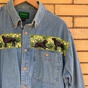 Vintage denim Labrador shirt